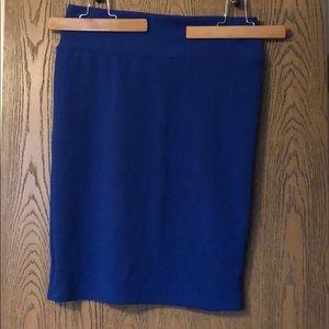 LuLaRoe Cobalt Blue Cassie Pencil Skirt